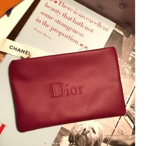 Dior Brick Red Cosmetic Zipper Pouch Fall 2018 🆕